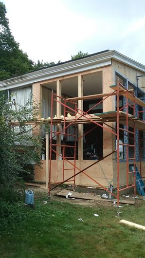 Building construction in Milford MA by Don Bellofatto Design Build, Inc
